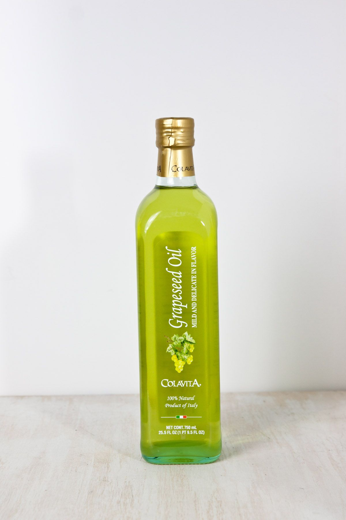 Colavita grapeseed oil 255 floz glass bottle with