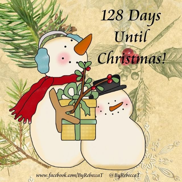 Counting down! 128 days until Christmas! Ornaments by Rebecca in