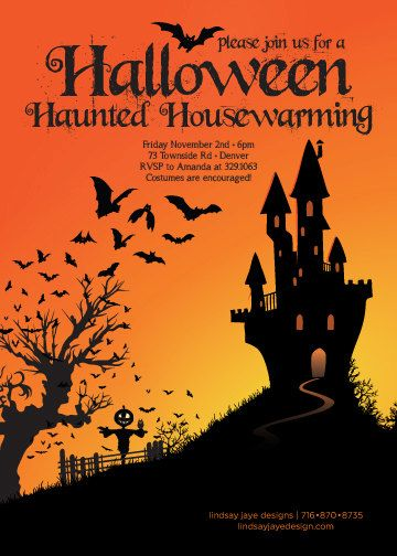 Halloween Housewarming Invitation  Google Search  All Occasions
