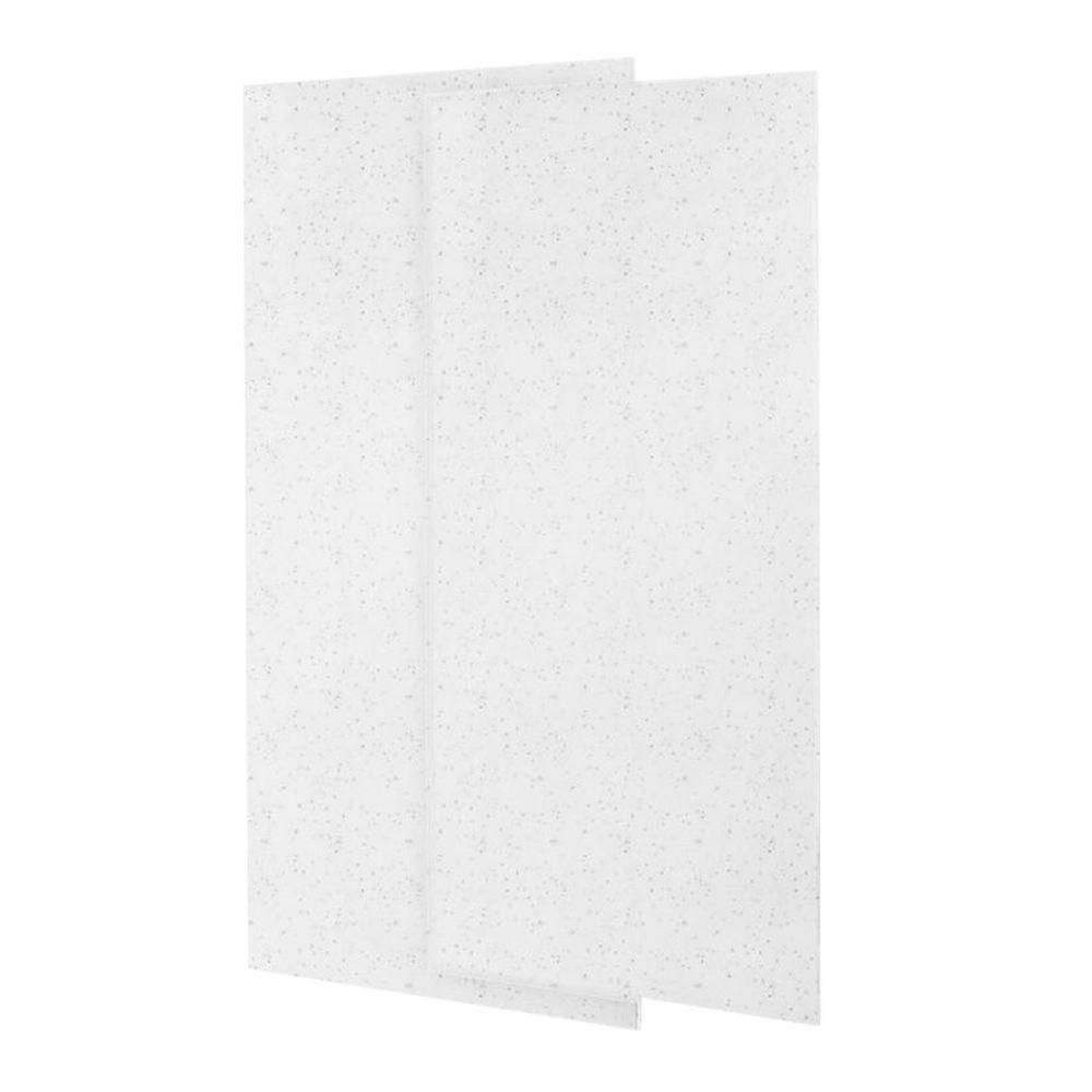 Swan 36 In X 72 In Solid Surface 2 Piece Easy Up Adhesive Alcove Shower Wall In Arctic Granite Shower Wall Shower Wall Panels Wall Paneling