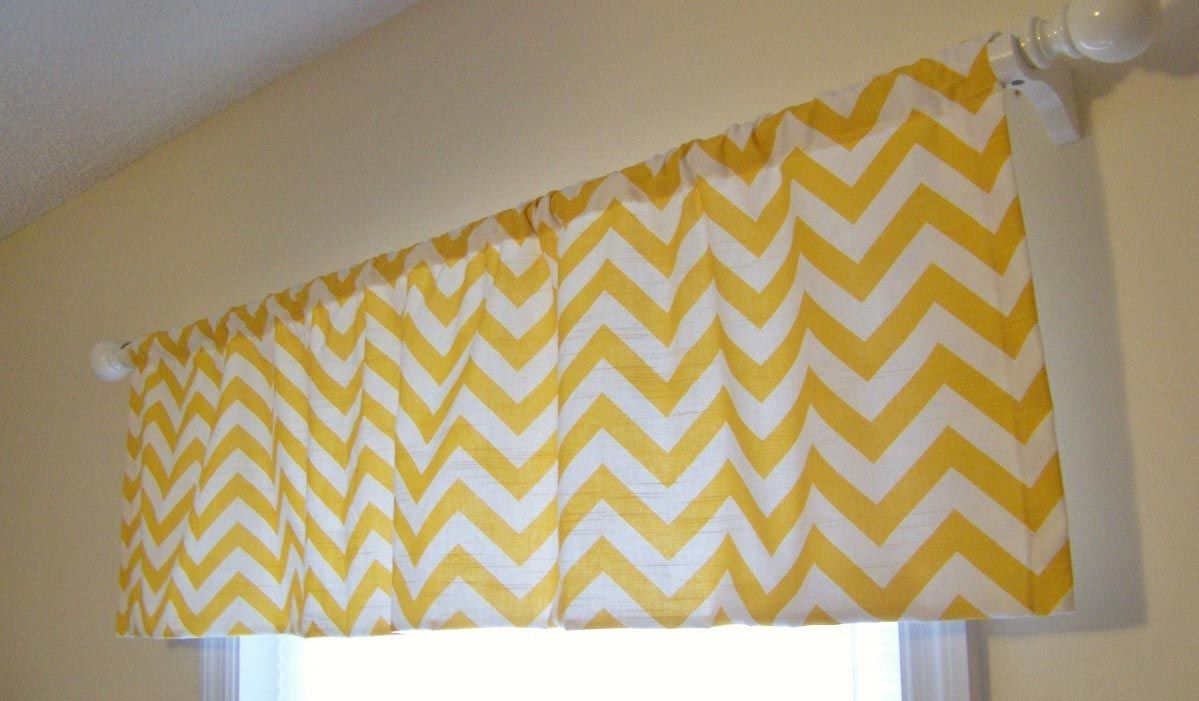 Yellow Valances for Bedroom | Window Treatments | Chevron ...