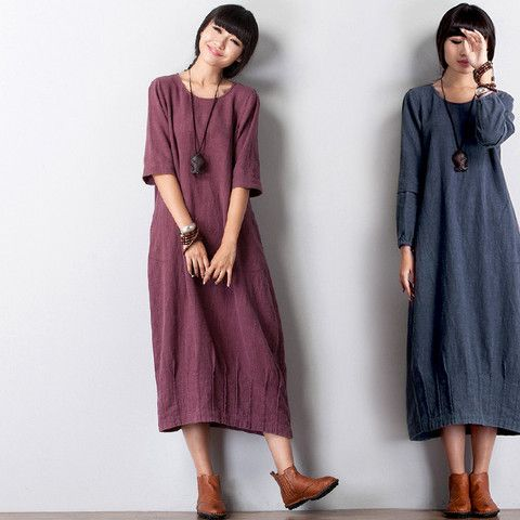 7c04628d044d0 Femmes linge robe à manches longues   couture   Pinterest   Manches ...