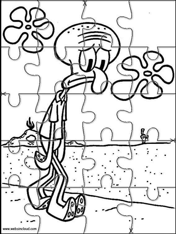 Printable jigsaw puzzles to cut out for kids SpongeBob 44 ...