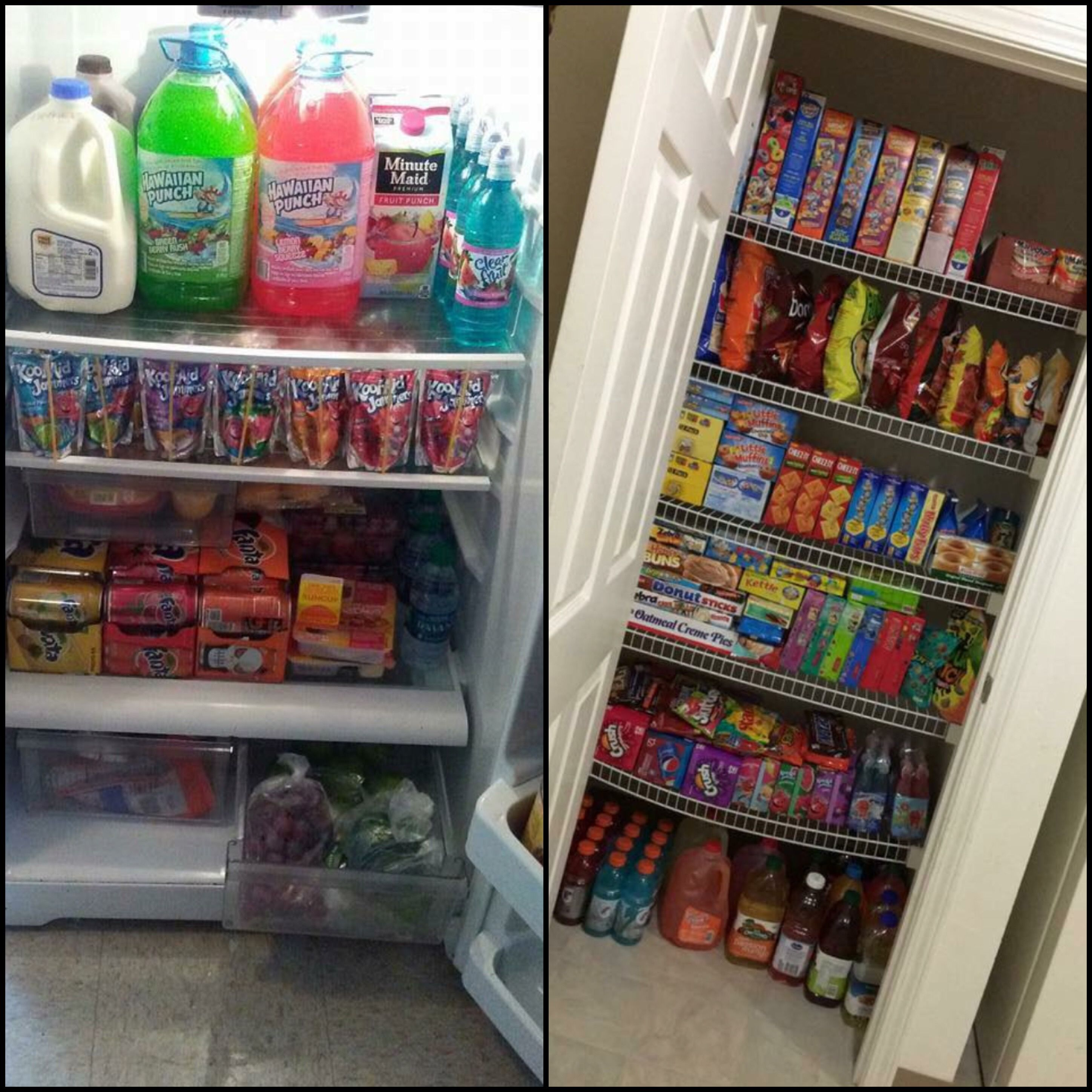 I Want My Willpower To Be As Strong As The Bottom Shelf In That Cabinet Junk Food Snacks Sleepover Food Food Pantry