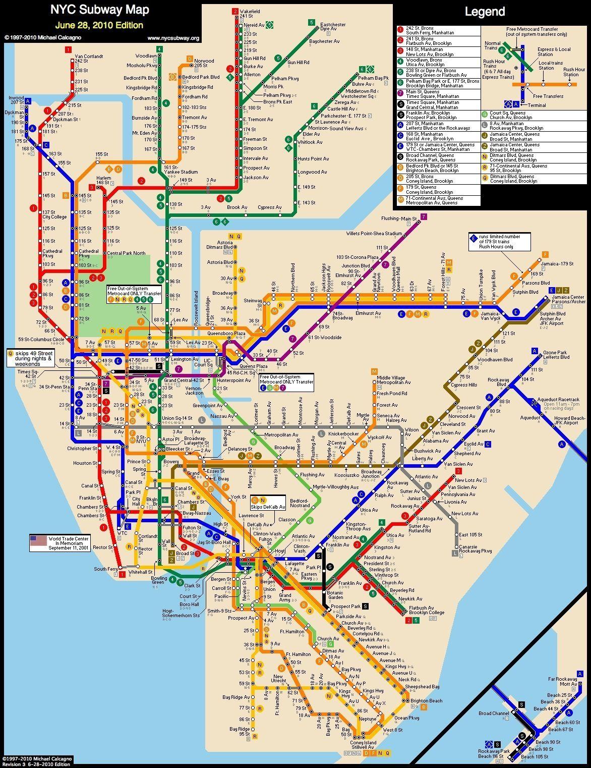 NYC  Subway Map New York City  NYC New York City Art