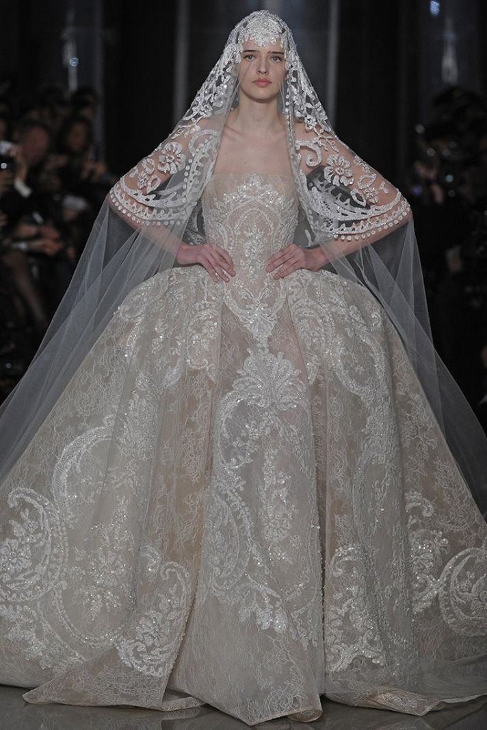 Bridal Style Inspiration Ode To Delicateness By Elie Saab Camo Wedding Dresses Sequin Lace Wedding Dress Ball Gowns Wedding
