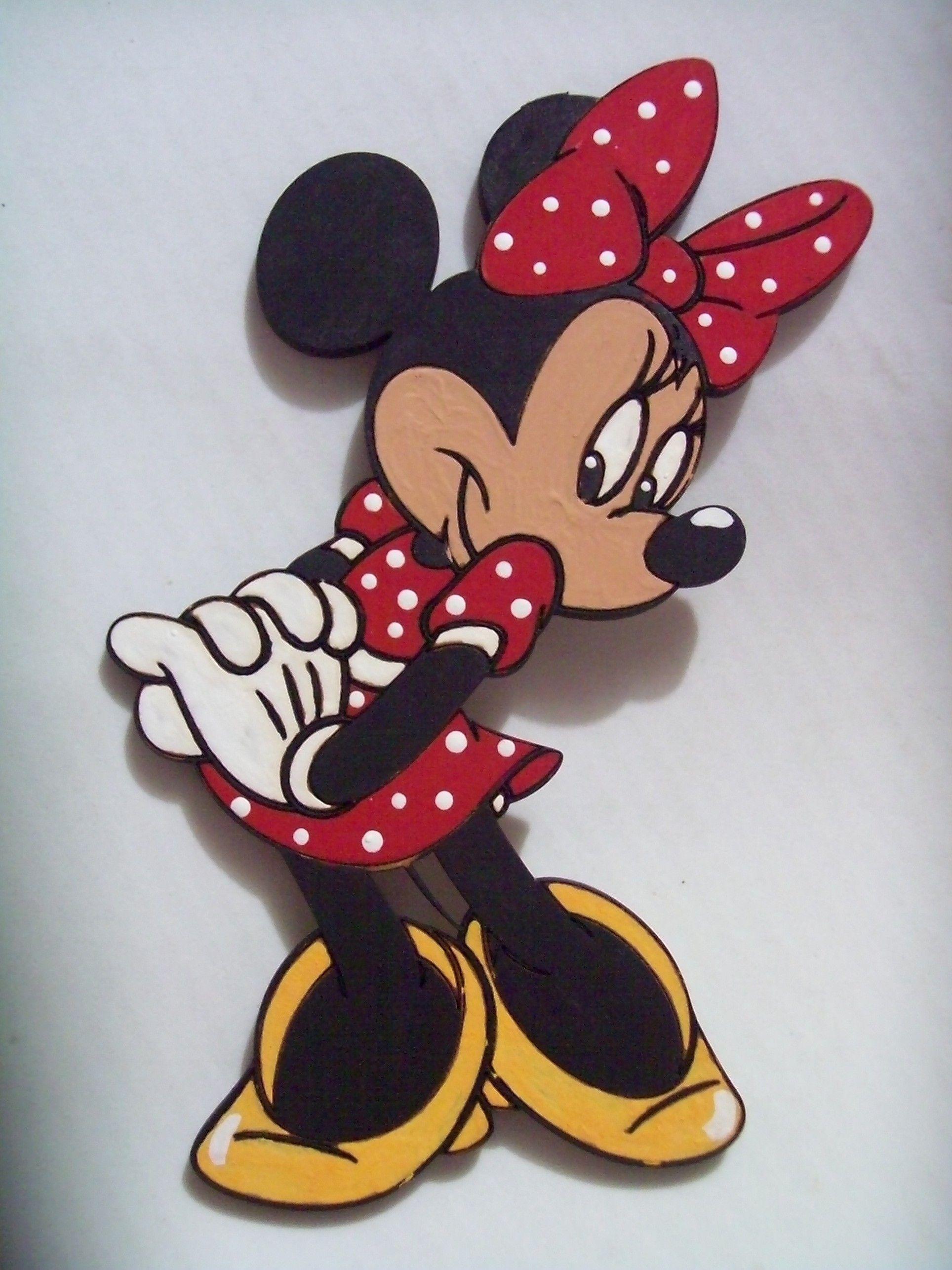 Figura de Minnie en madera corte láser. Aplicación para cuadros ...