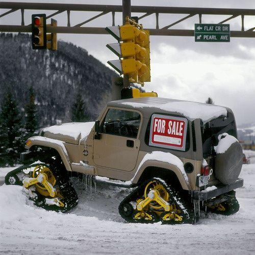 Jeep Wrangler With Tracks Wyoming Tags Jeep Wrangler Jeep Truck Trucks