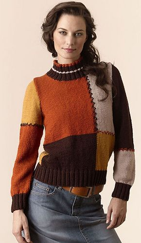 torino colorblock pullover | Knit women\'s pullovers (colorful ...
