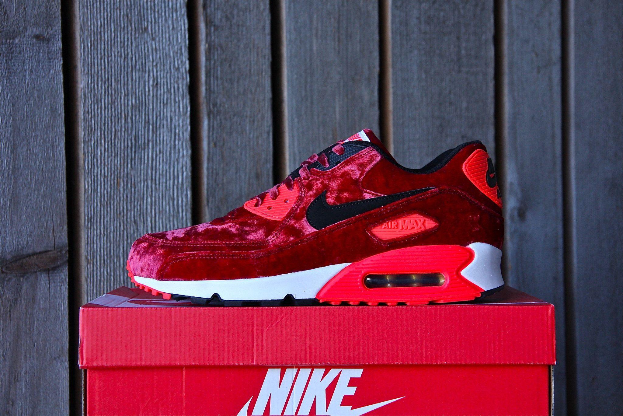 Nike Air Max 90 Red Velvet 25th Anniversary Infrared 725235