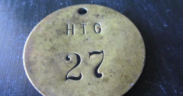 Brass Round tag Number Twenty Seven | Ottone, Tag e Etsy