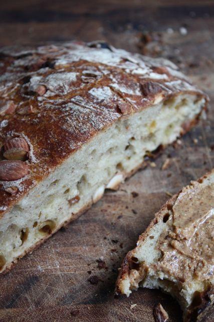 Raisin almond butter bread