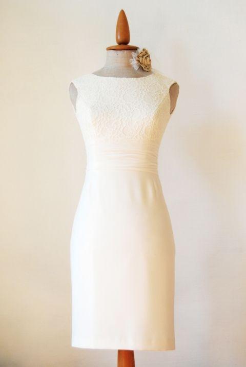 01c9cab95e Ekrű csipke betétes ruha, Ruha, divat, cipő, Esküvői ruha, Női ruha ...