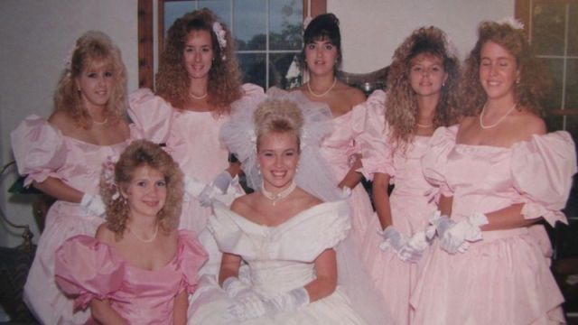 I M Really Liking The Old School Style Of These Bridesmaid Dresses