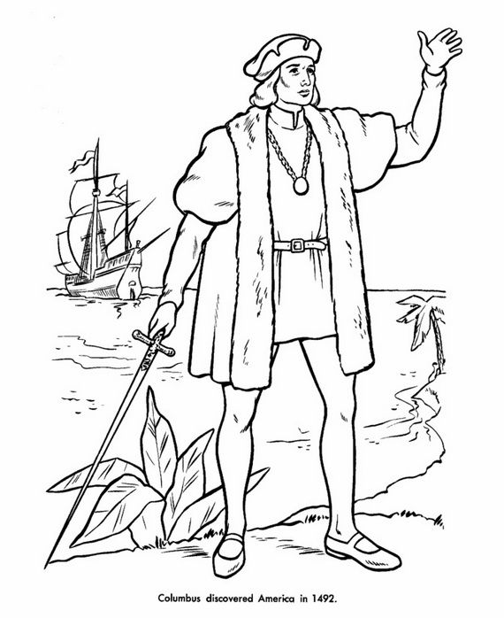 Columbus Day Coloring Sheets For Kids | Christopher columbus ... | 698x570