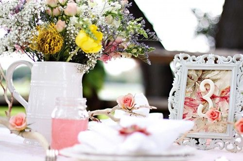 Next In Shabby Chic Wedding Style Series Looking At Table Decorations Including Place Settings And Centrepieces