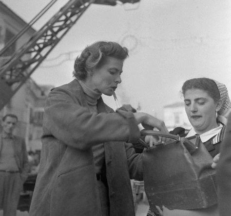 Ingrid Bergman at Cinecittà Studios 1953