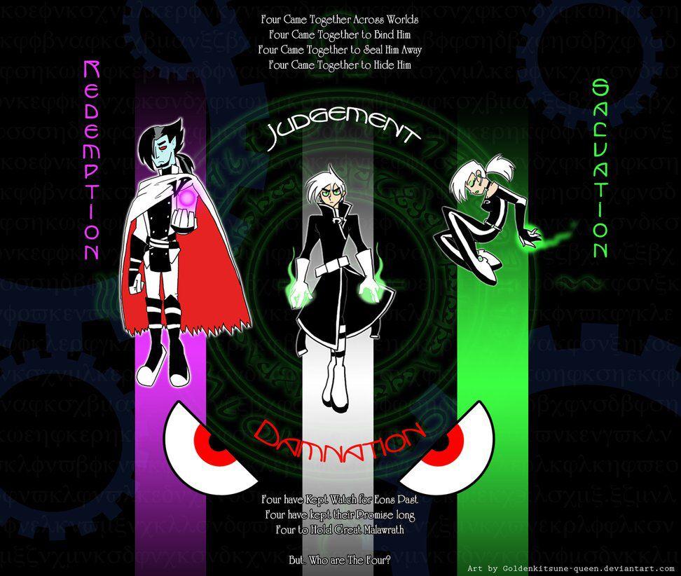 Danny Phantom The Four By The Clockwork Crow On Deviantart