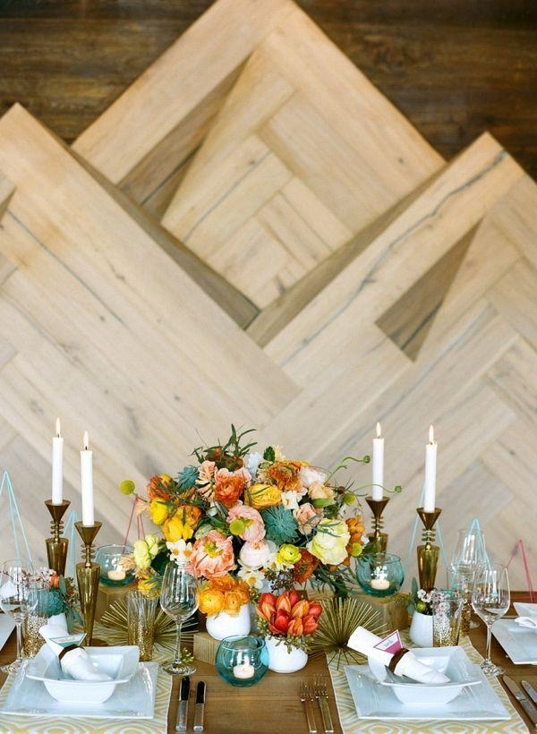 Fabulous Mid Century Modern Wedding Inspiration Mid Century