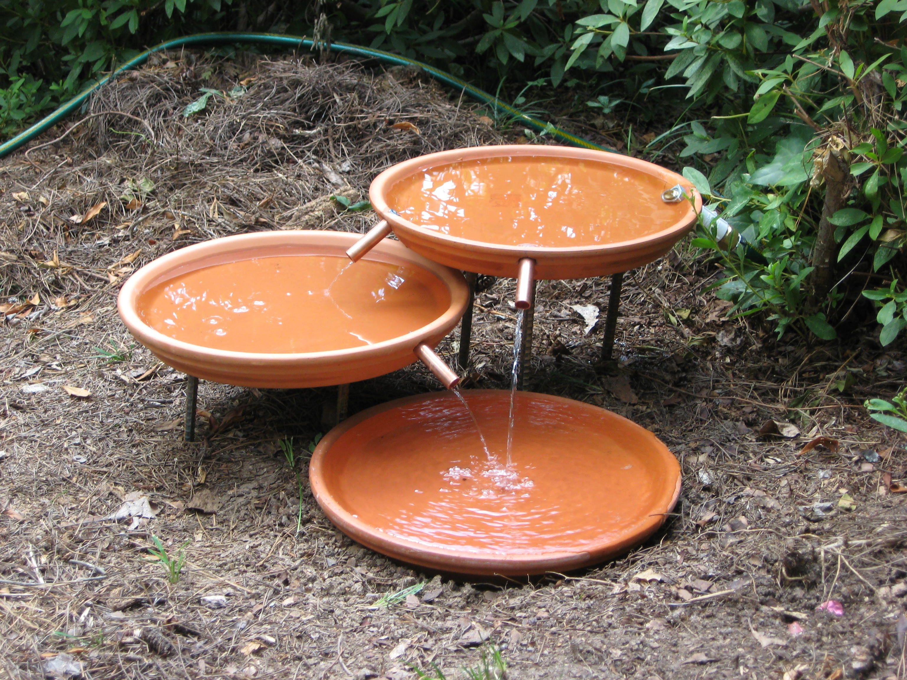 Bird Bath Bubbler: Making A Outdoor Bath | Bird Baths | Pinterest