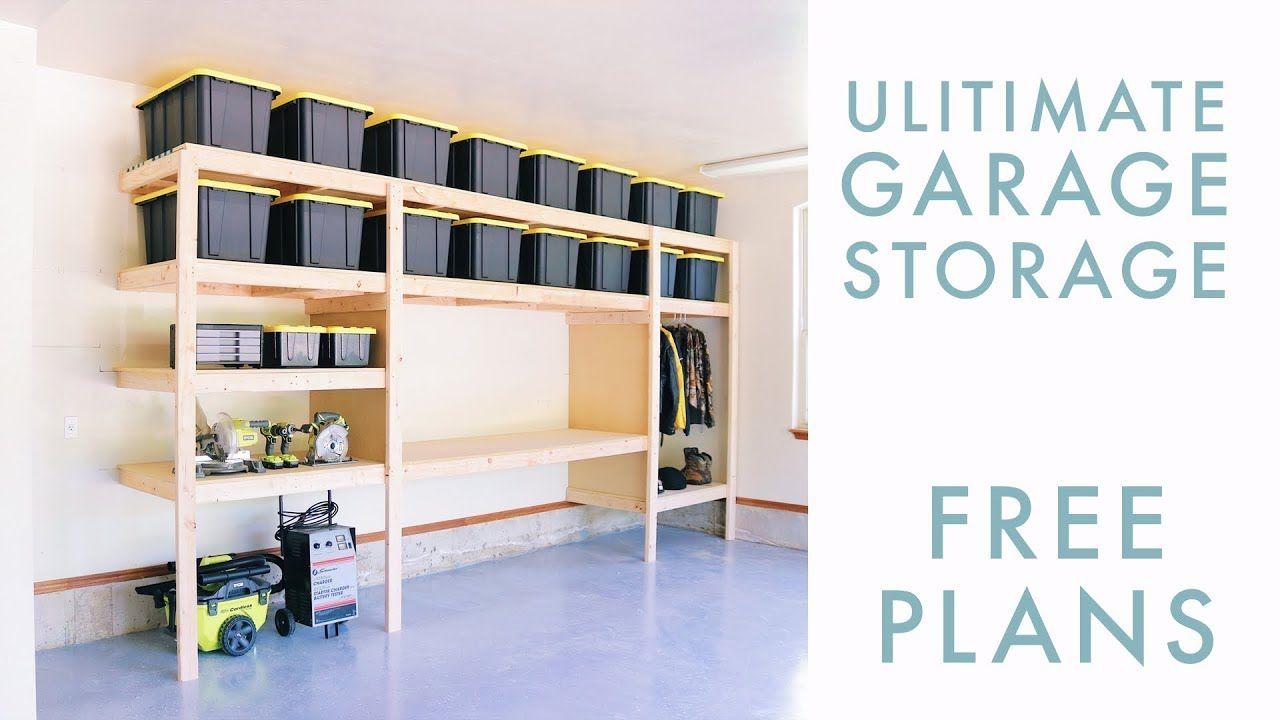 Awesome Diy Garage Storage Shelf Workbench Solution Youtube In Machost Co Dining Chair Design Ideas Machostcouk