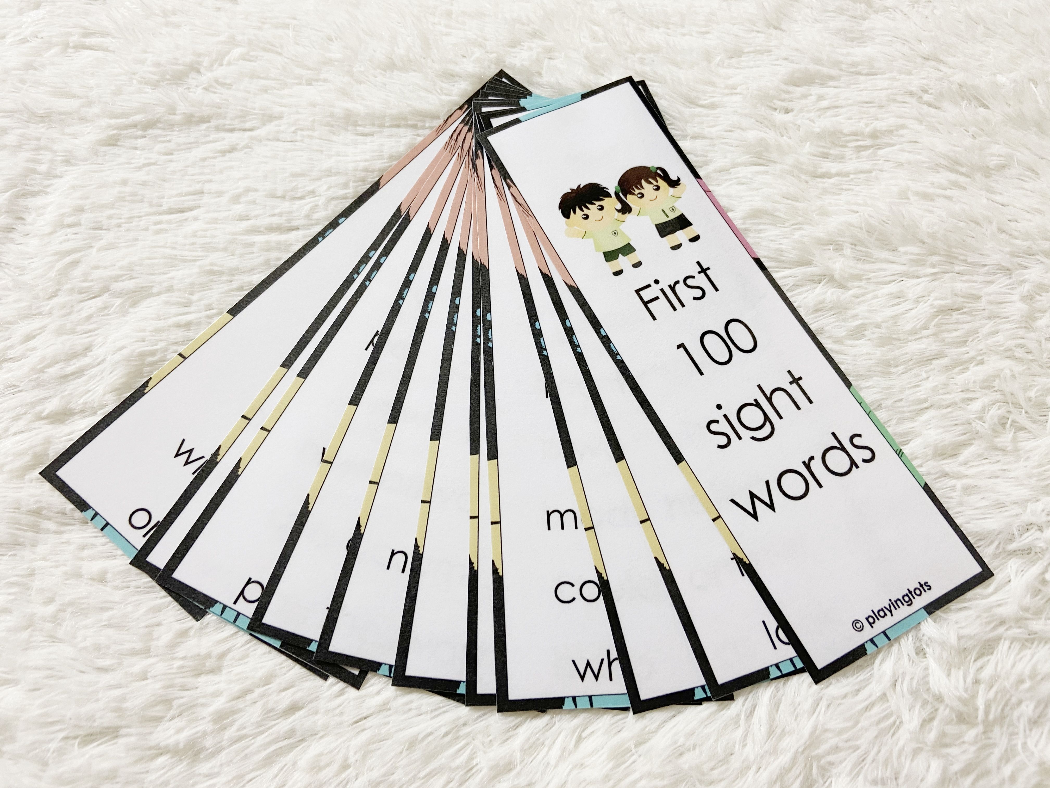 First 100 Sight Words Strips High Frequency Sight Words