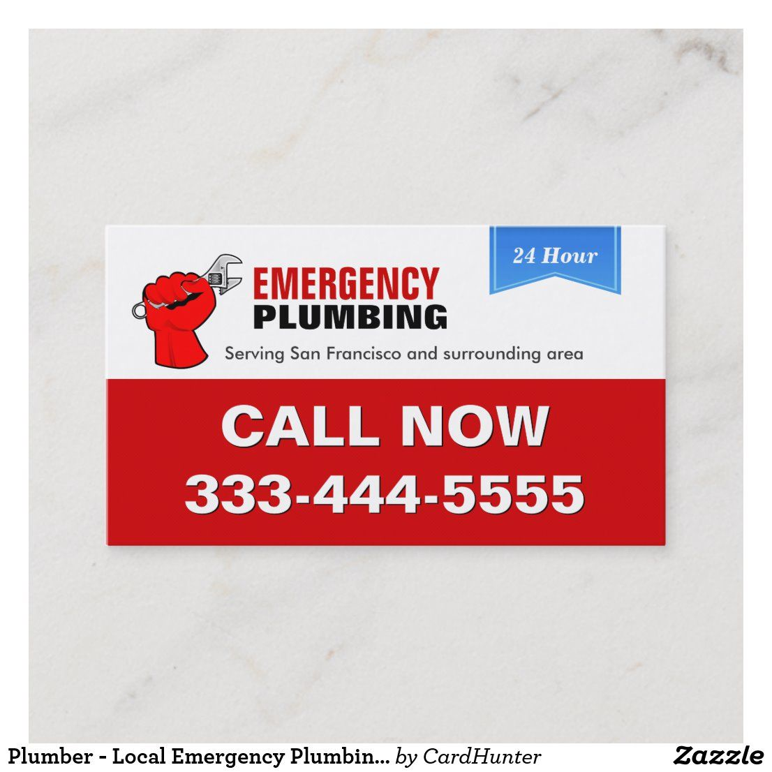 Plumber Local Emergency Plumbing Services Business Card Zazzle
