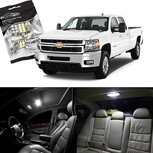 Partsam 2007-2013 Chevrolet Silverado White Interior LED