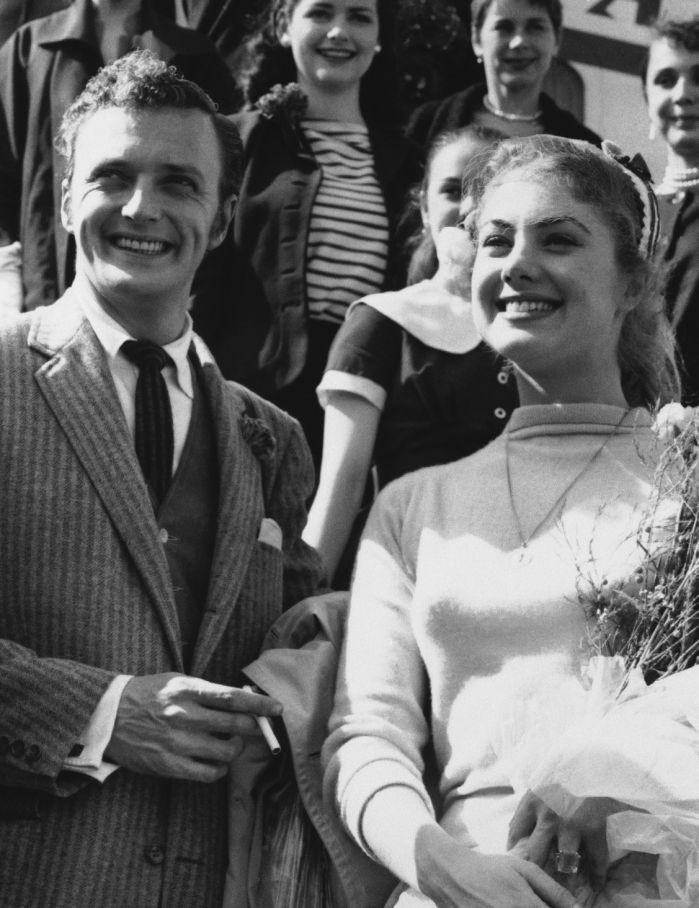 Shirley Jones and Jack Cassidy in Rome, July 5, 1955. (AP Photo)