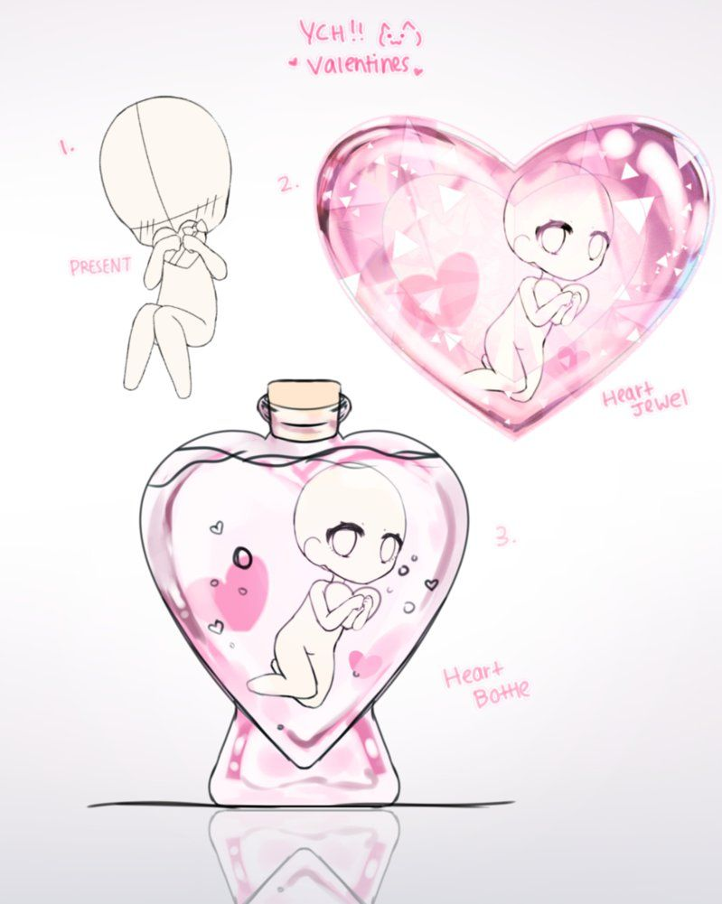 Ych Valentines Chibi Closed By K En Drawing Base Chibi Drawings Drawing Poses