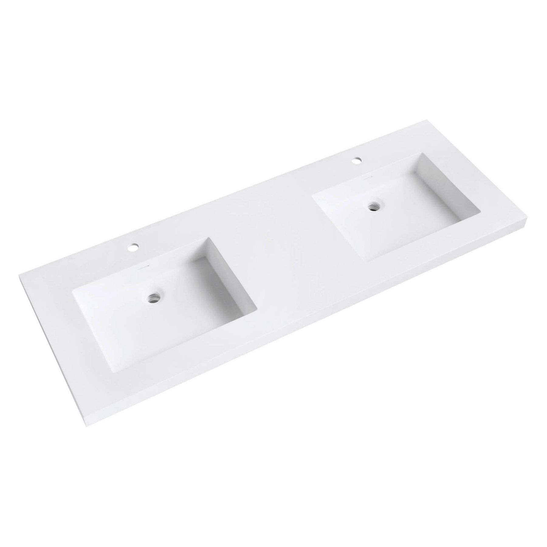 Acrylic Double Sink Vanity Top With Integrated Sinks Vut61wt