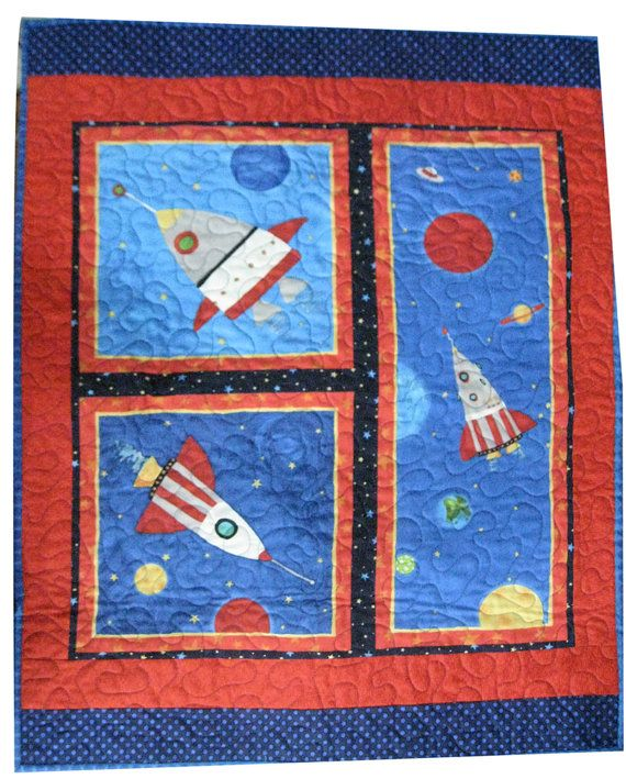 Outer Space Quilt for Baby or Toddler Wall by Sieberdesigns, $45.00