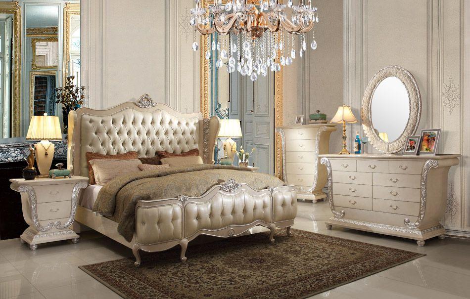 5-Pc HD-8008 Homey Design Golden Royal Palace Bedroom Set Free ...