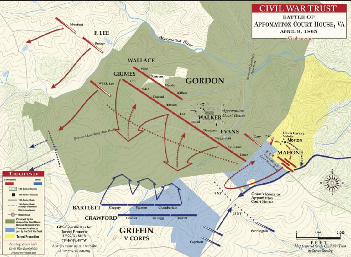 Map Of Georgia 1865.Appomattox Court House April 9 1865 Last Confederate Soldier