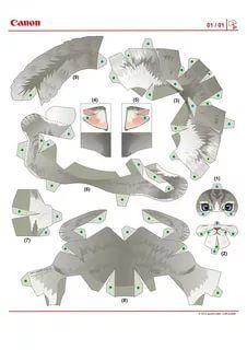 модели из бумаги схемы животные: 11 тыс изображений ...