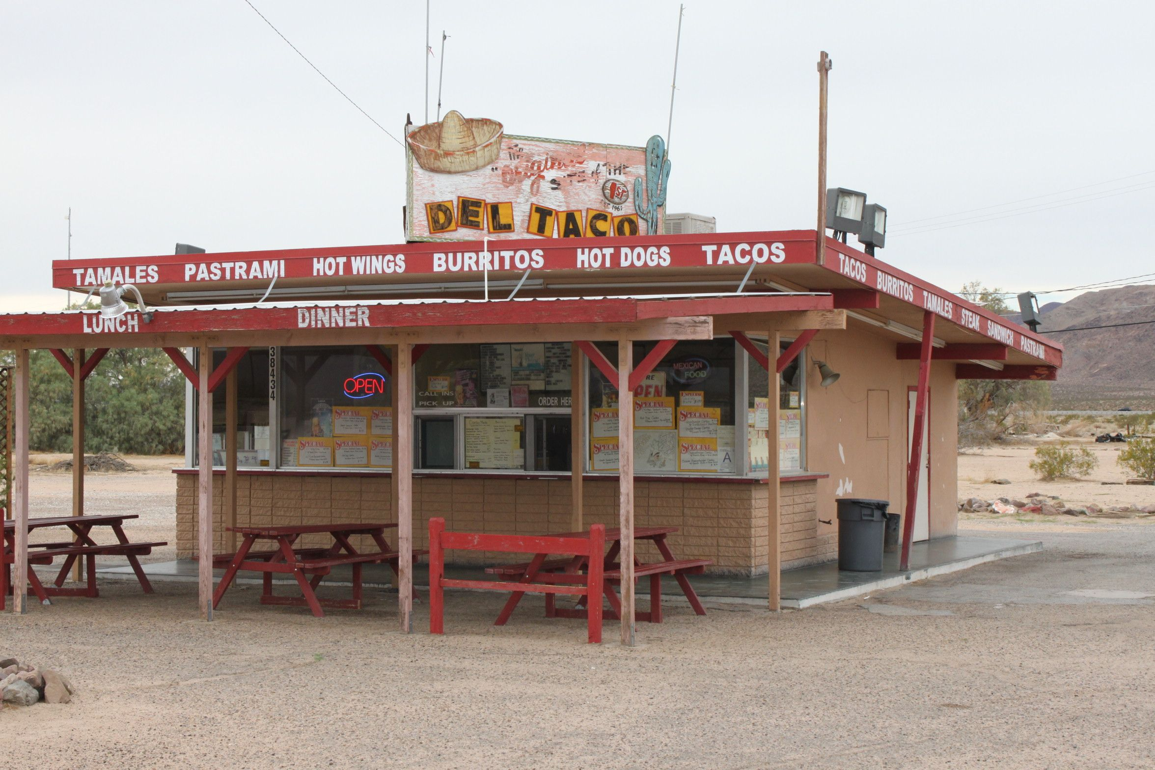 The Very First Del Taco Opened Up Just Outside Of Barstow In The