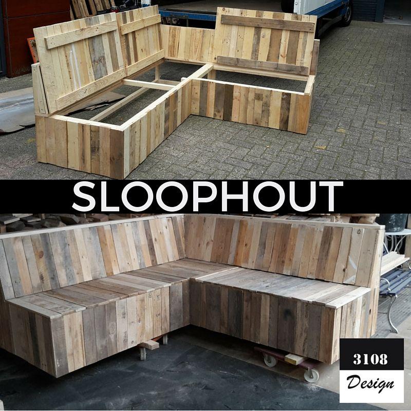 Sloophout Tuinbank Maatwerk Hoekbank Buiten Outdoor Sofa
