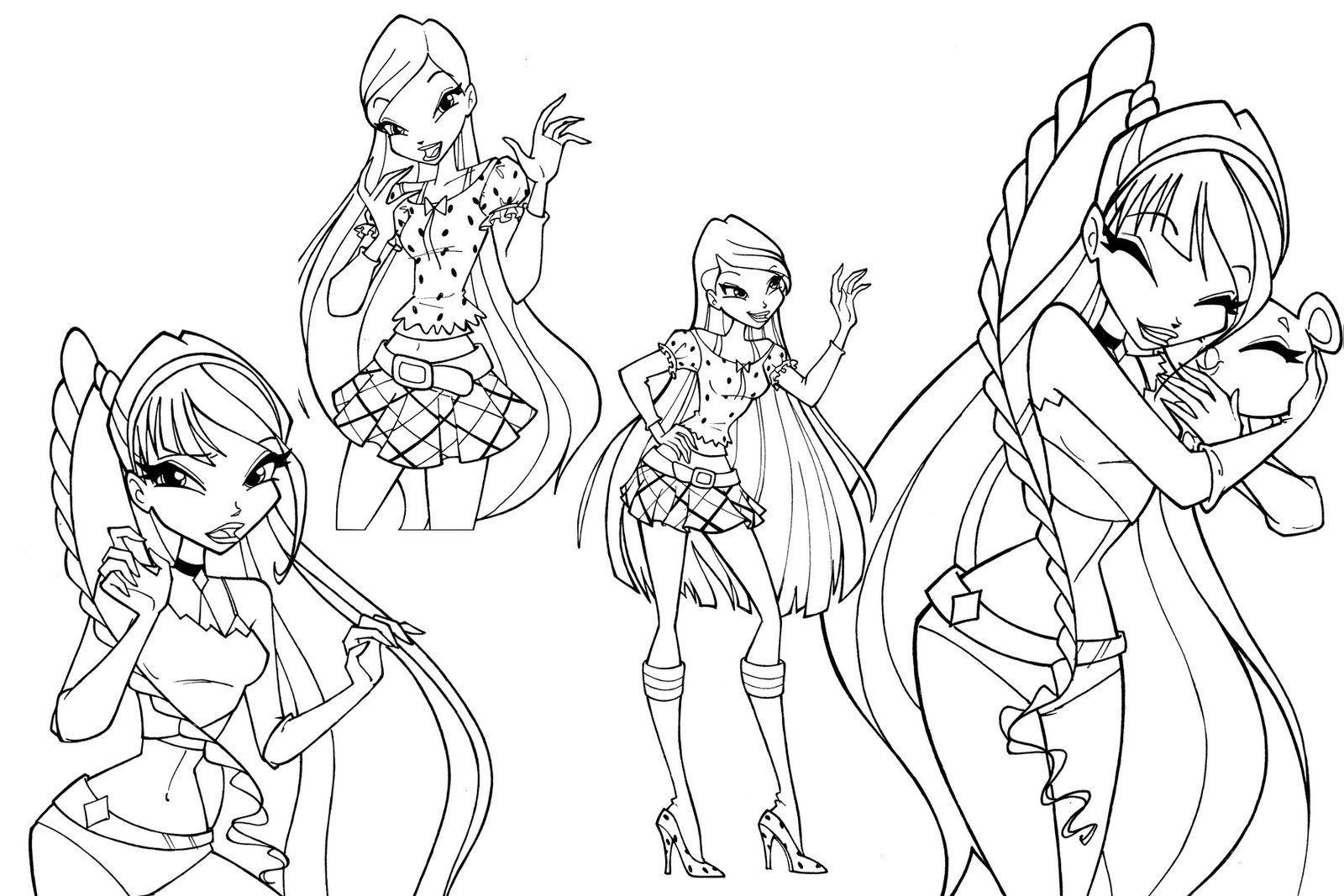 disegni da colorare winx ballerine