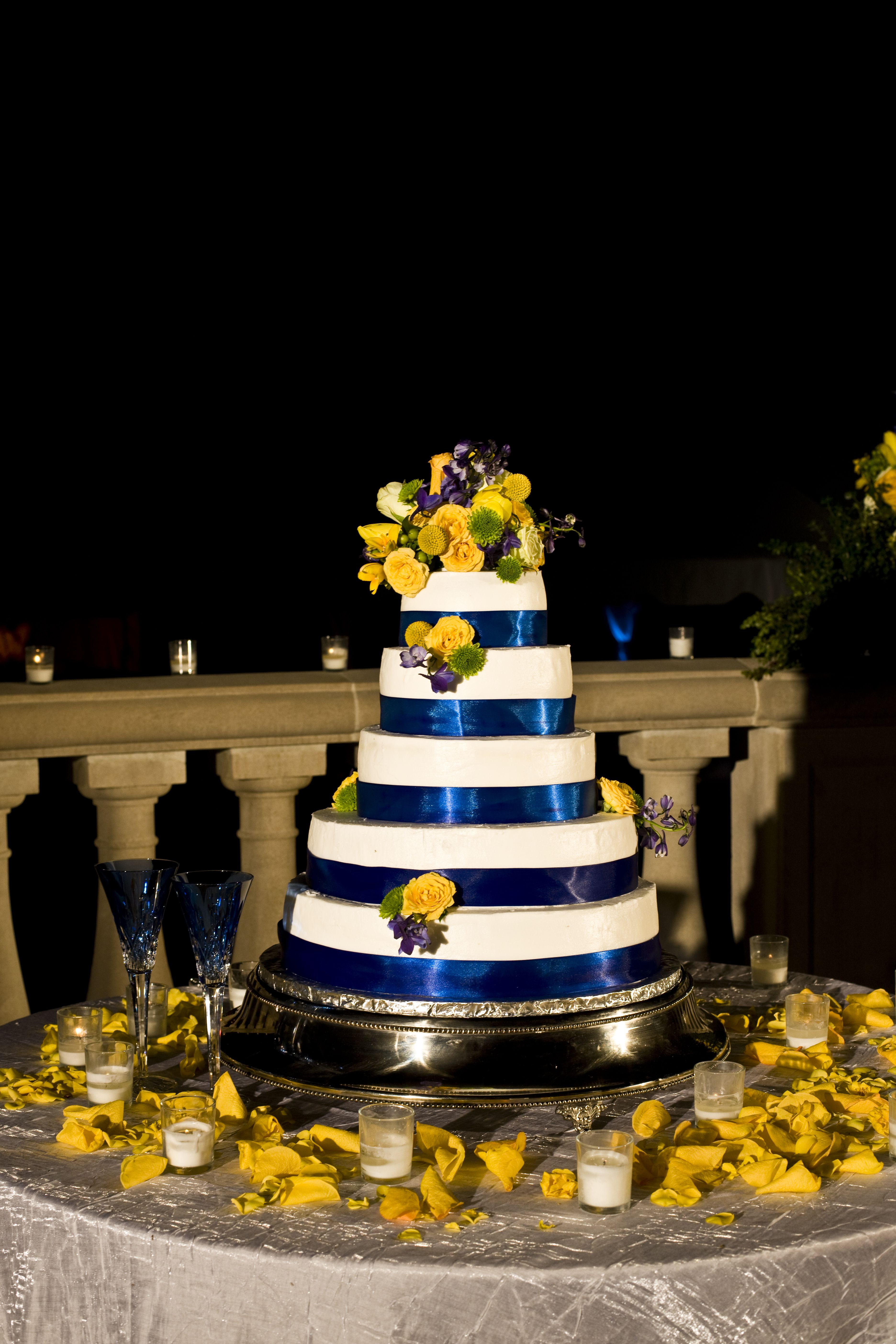 Blue And Yellow Cake Table By Southern Event Planners Memphis Tennessee Weddings