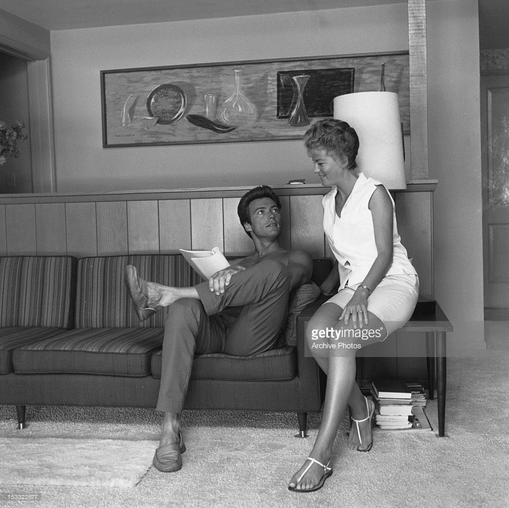 American Actor Clint Eastwood With His First Wife Maggie -5537