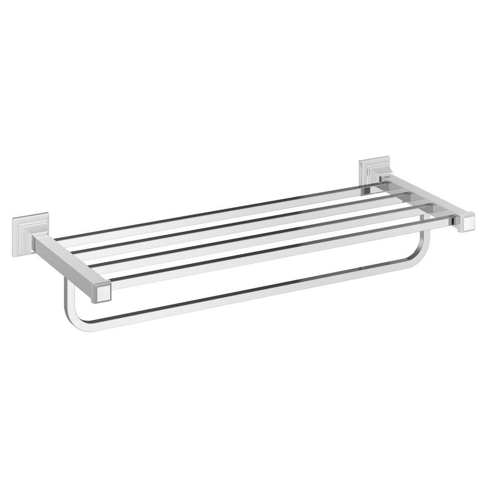 Grohe Essentials 22 In Multi Towel Rack In Starlight Chrome 40800001 The Home Depot Wall Bar Polished Nickel Towel Bar