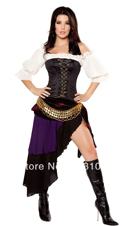 Amado desconto zingara cigana pirata sexy halloween carnaval fantasias  FK75