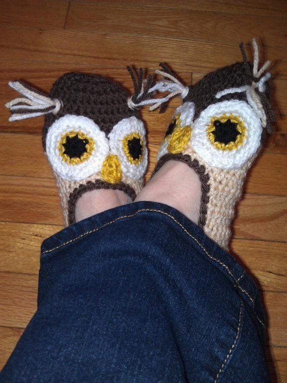 DIY Crocheting: Owl Slippers - SO cUte!
