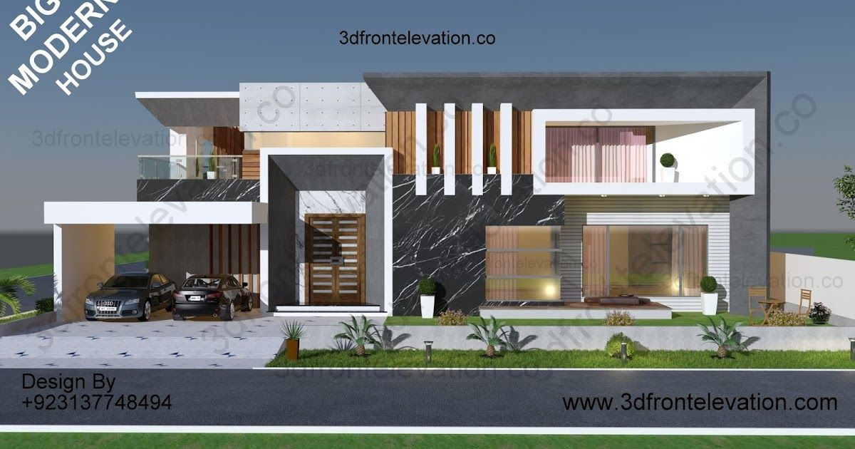 3 Side 2 Kanal Corner Big Fully Modern Contemporary House Plan Exterior Ele Modern Contemporary House Plans House Architecture Design Contemporary House Plans