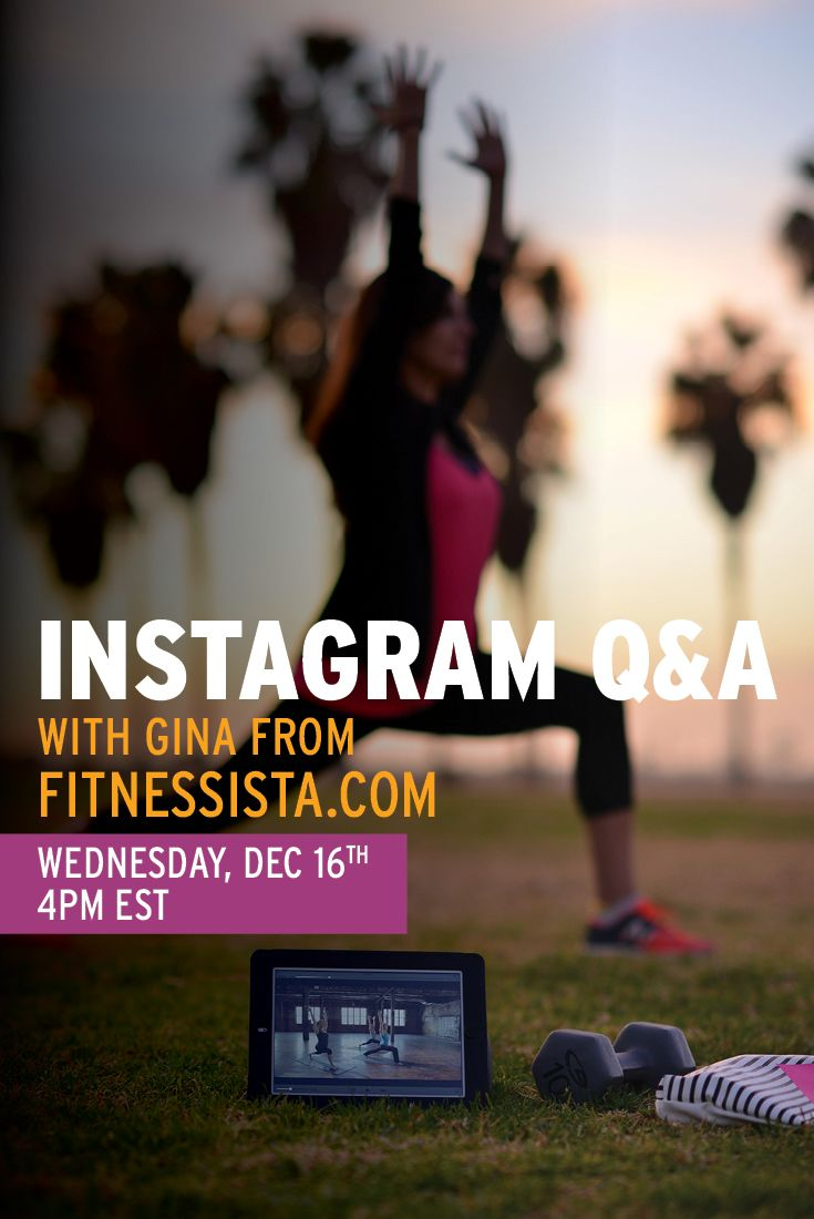 Dont miss our instagram qa with the fitnessista today at