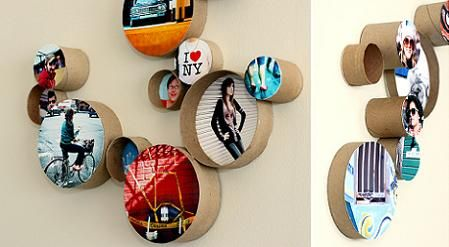 Fun wall to display your favorite photos