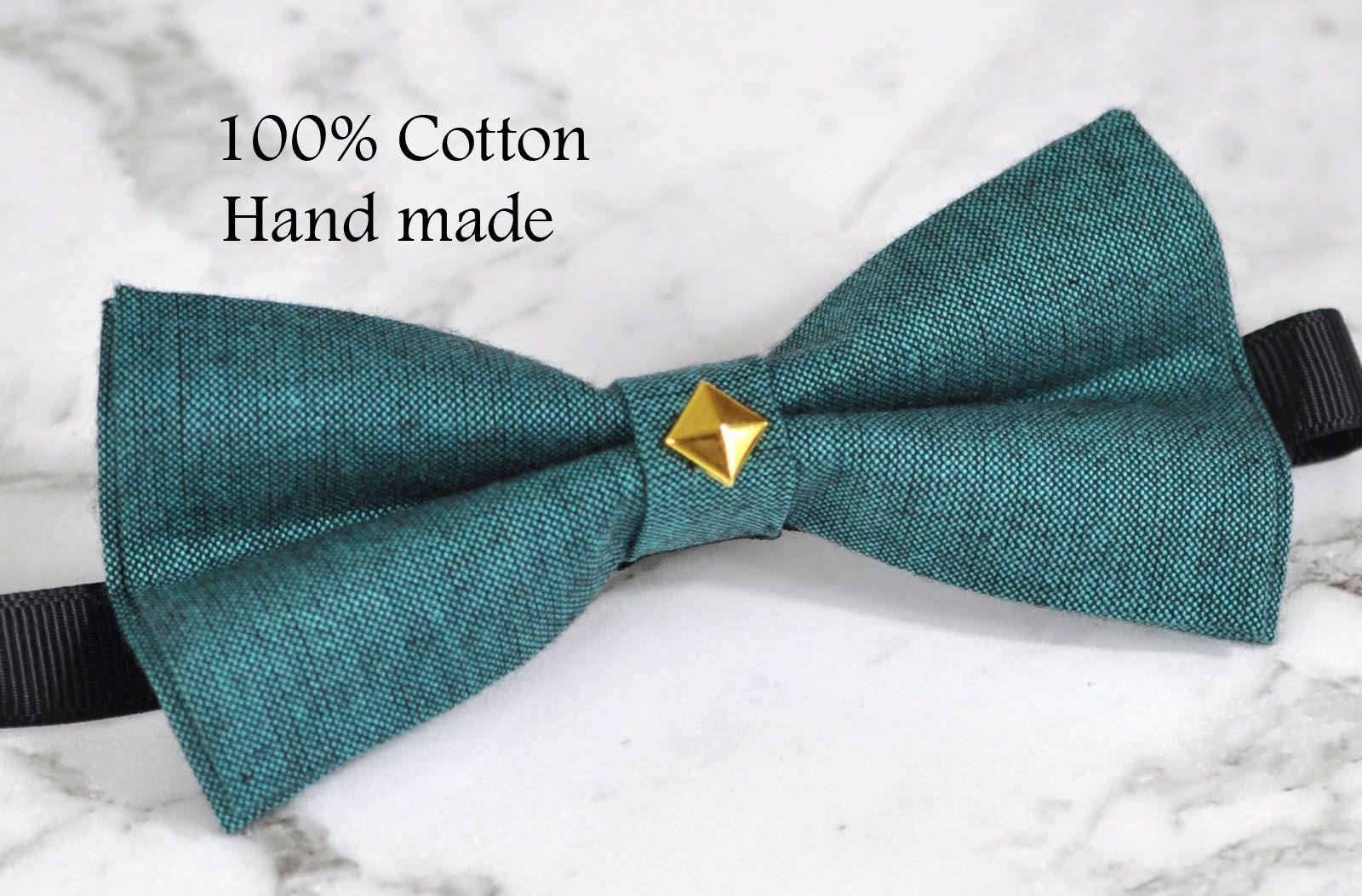 Boy Kids Baby 100/% Cotton Aqua Blue Bow Tie Bowtie Party Wedding 1-6 Years Old