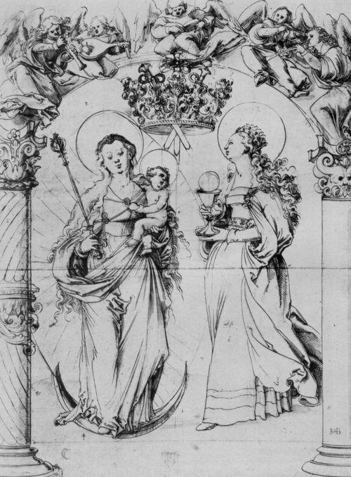 Baldung Grien, Hans: Mondsichelmadonna und Hl. Barbara c.1522