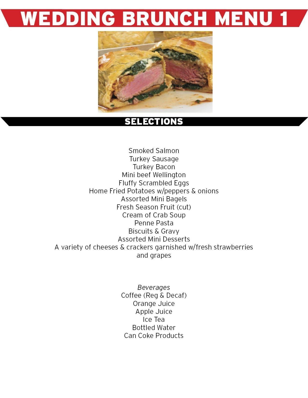 engagement brunch menu simply good wedding brunch menu 1 v2