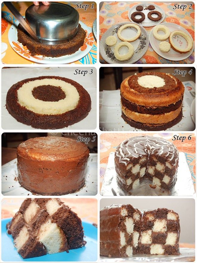How To Make Checkerboard Cakes Stepwise Instructions Tutorial